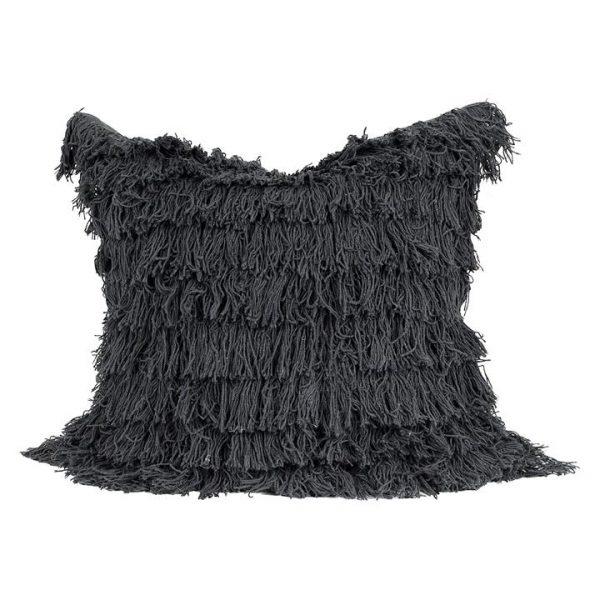 Black Swan Fringe Cushion