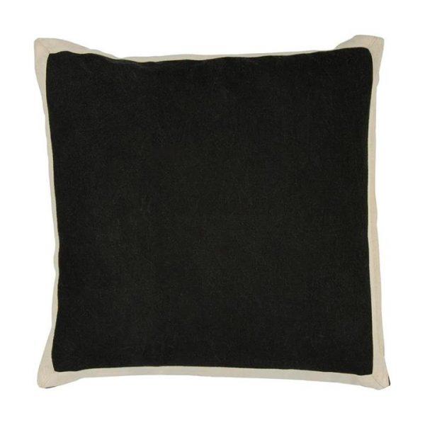 Block Fabric Scatter Cushion, Raven
