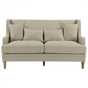 Bondi Fabric Sofa, 3 Seater, Beige