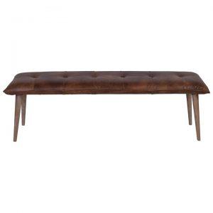 Boston Leather Danish Dining Bench, 160cm
