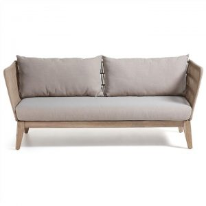 Bourne Solid Acacia Timber Frame Indoor/Outdoor 3 Seater Sofa