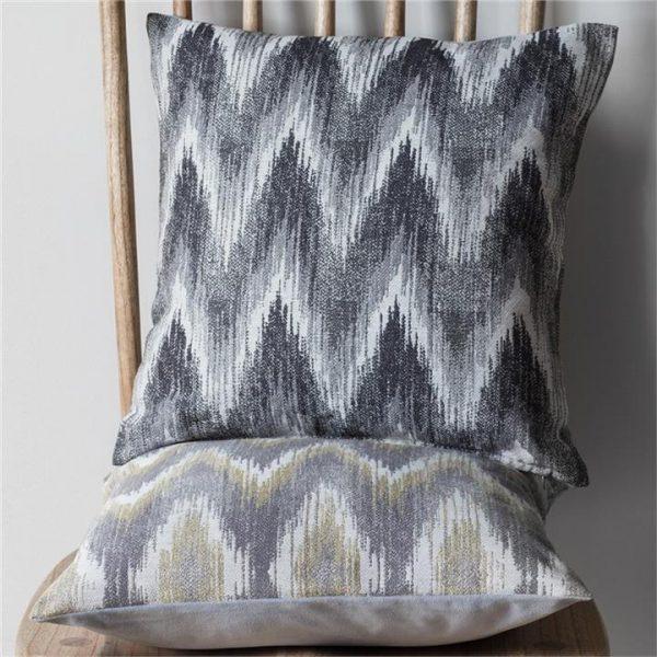 Brandy Zig Zag Scatter Cushion, Chartreuse/Grey