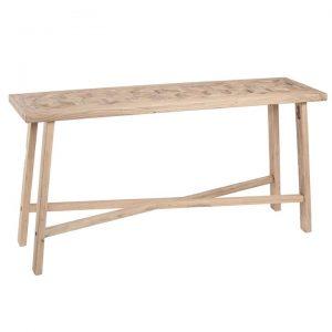 Braxton Handmade Elm Timber Decorative Console Table, 150cm