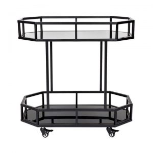 Brooklyn Iron Drink Trolley, Black