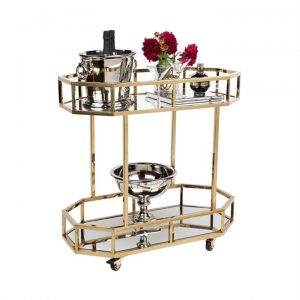Brooklyn Stainless Steel Drink Trolley, Gold