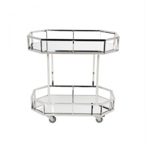 Brooklyn Stainless Steel Drink Trolley, Silver
