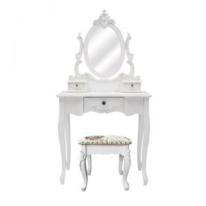 Cachan Dressing Table with Carville Dressing Stool