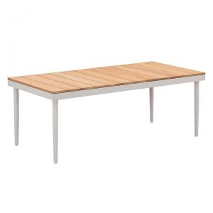 California Outdoor Teak & Aluminium Coffee Table