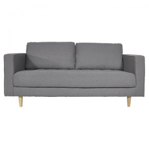 Calvin 2.5 Seater Faux Leather Sofa, Cadet Grey
