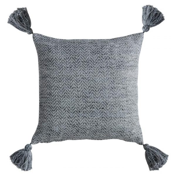 Cameo Herringbone Feather Filled Scatter Cushion, Charcoal