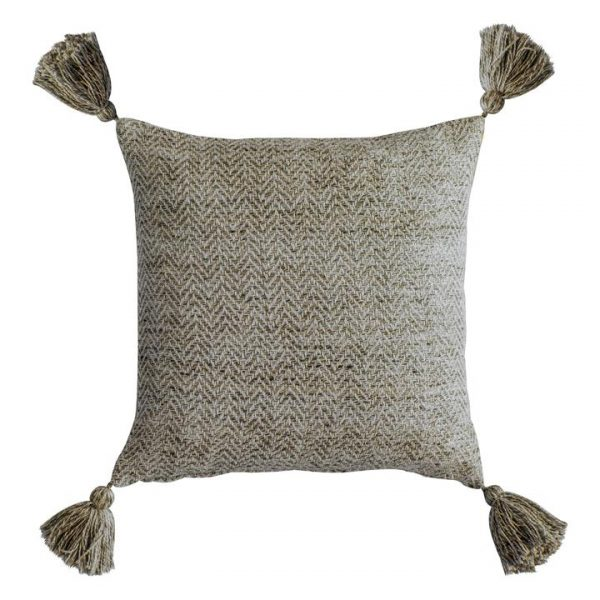 Cameo Herringbone Feather Filled Scatter Cushion, Taupe