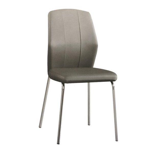 Carol PU Leather Dining Chair, Grey