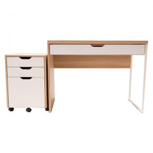 Carson Laptop Desk with Filing Cabinet