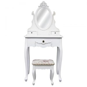 Carville Dressing Table with Cachan Dressing Stool