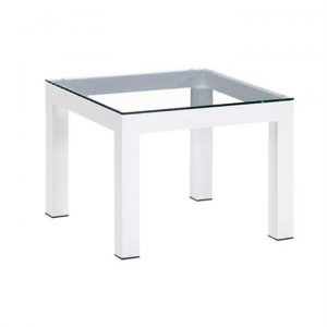 Casia Aluminium Indoor/Outdoor Low Side Table with Glass Top