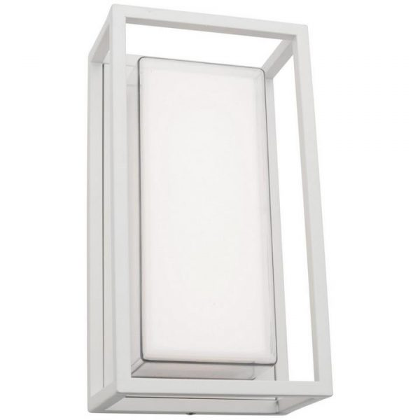 Cayman IP54 LED Outdoor Wall Light, White
