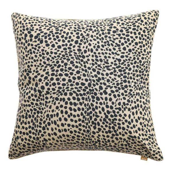 Cheetah Print Cotton Scatter Cushion, Navy