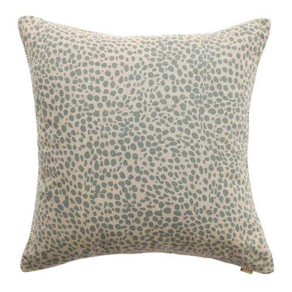 Cheetah Print Cotton Scatter Cushion, Pale Blue