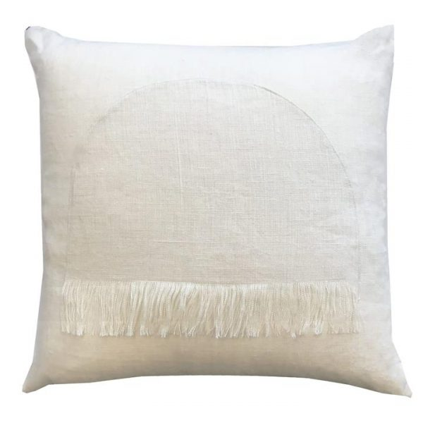 Citadel Linen Euro Cushion, Chalk