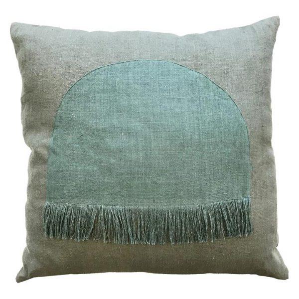 Citadel Linen Euro Cushion, Moss Green