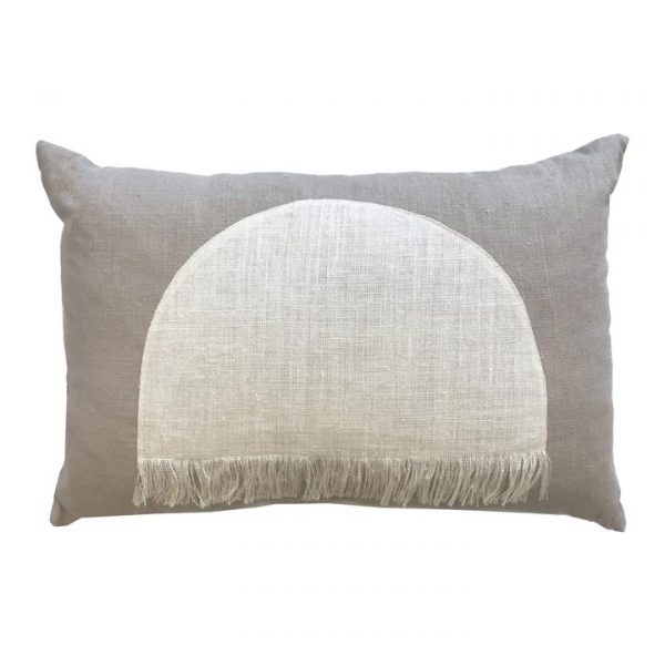 Citadel Linen Lumbar Cushion, Ecru