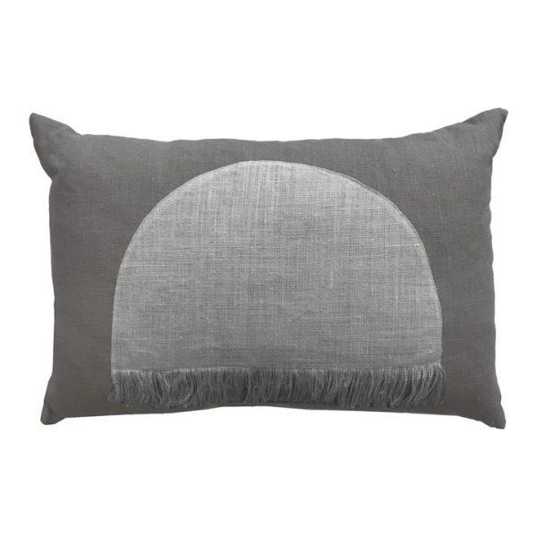 Citadel Linen Lumbar Cushion, Grey