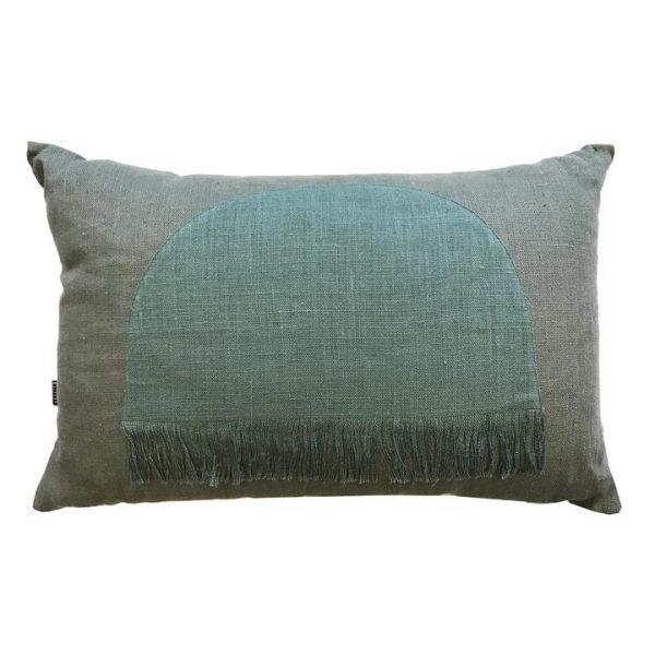 Citadel Linen Lumbar Cushion, Moss Green