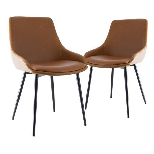 Como Commercial Grade Faux Leather Dining Chair, Tan