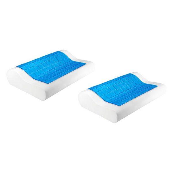 Cool Gel Top Memory Foam Pillow (Set of 2)