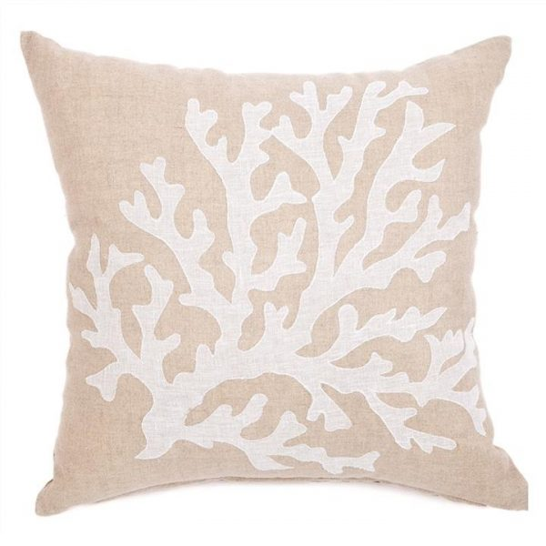 Coral Linen Scatter Cushion