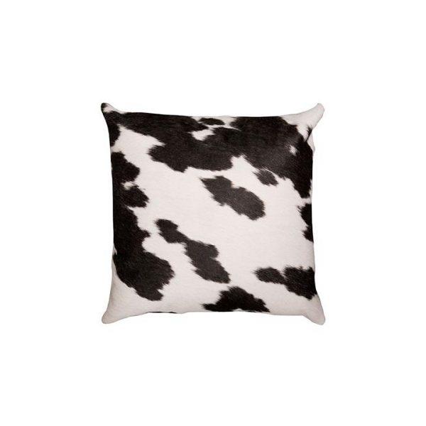 Cowhide Cushion, Black/White