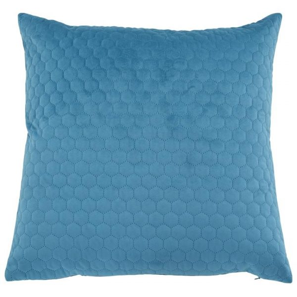 Cronulla Quilted Velvet Scatter Cushion Cover, Turquoise