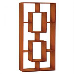 Cube Mahogany Timber Display Shelf / Room Divider, Light Pecan