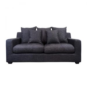 Cynthia Fabric Sofa, 2.5 Seater, Dark Grey
