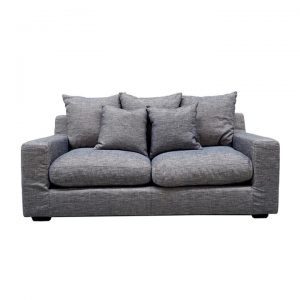 Cynthia Fabric Sofa, 2.5 Seater, Light Grey