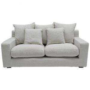 Cynthia Fabric Sofa, 2.5 Seater, Oatmeal