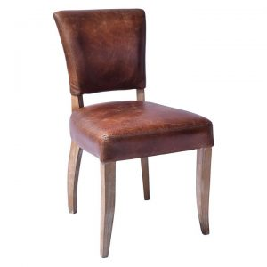 Deco Leather Dining Chair (Set of 2)