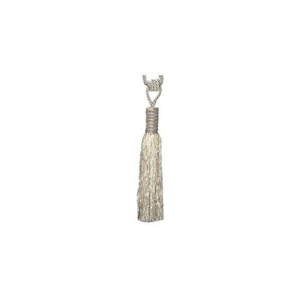 Diamante Encrusted Top Tassel Pair Curtain Tie-Back, Pink