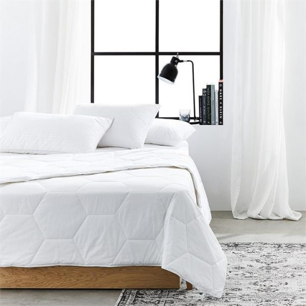 Downtime Australian Cotton Washable Quilt Super King - White By Adairs