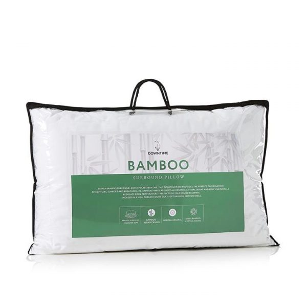 Downtime Bamboo Pillow Low / Medium - White By Adairs