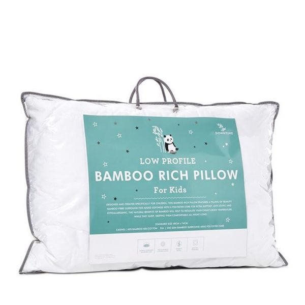 Downtime Kids Bamboo Rich Pillow STD - White By Adairs