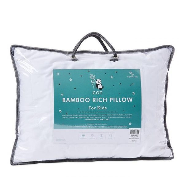 Downtime Kids Bamboo Rich Pillow - White By Adairs