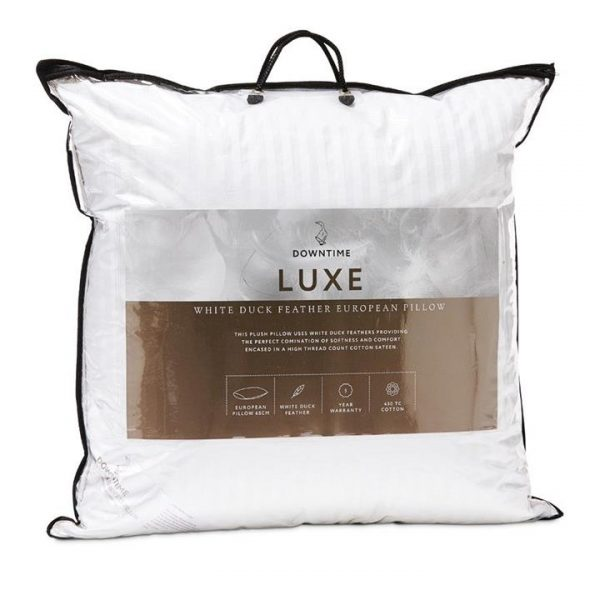 Downtime Luxe White Duck Down European Pillow European By Adairs
