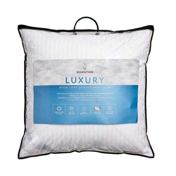 Downtime Luxury High Loft European Pillow White European By Adairs