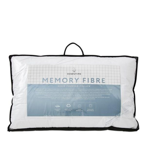 Downtime Memory Fibre Pillow 45x70cm High By Adairs