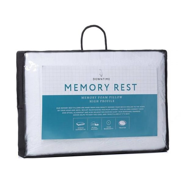 Downtime Memory Rest Pillow - White By Adairs