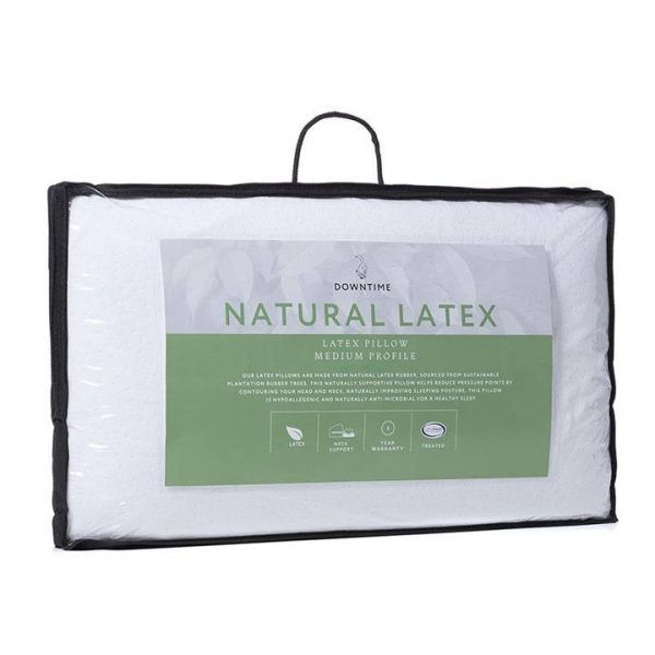 Downtime Natural Latex Pillow - White By Adairs