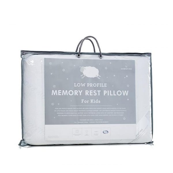 Downtime Slumber Memory Rest Pillow Low Profile - White By Adairs