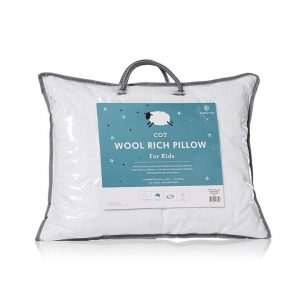 Downtime Slumber Wool Rich Pillow S17 Cot - White By Adairs