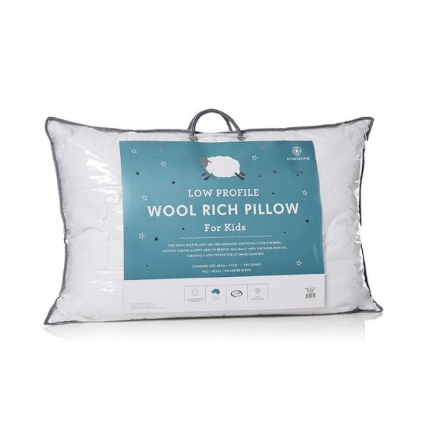 Downtime Slumber Wool Rich Pillow S17 Standard - White By Adairs